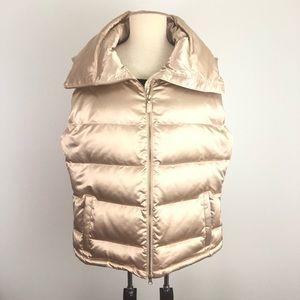 TALBOTS Gold Puffer Vest - Size XL